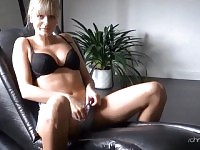 German babe fucked after phone sex