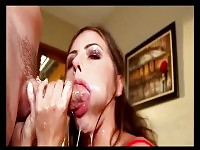 What a way to swallow cock