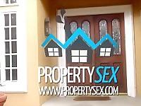 PropertySex Petite arête vierge baise pervers qui veut acheter la maison