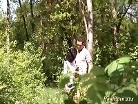 coppia tedesca nei boschi
