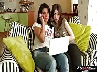 Hanna Pale e Olga Black stanno avendo sesso a tre con un ragazzo vergine
