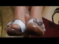 Shoejob tante Carla Footjob