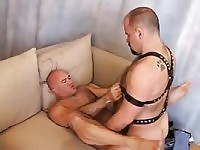 Leather muscle bears fuck