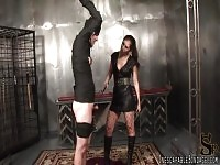 Miss Olive will humiliate her tied male slave