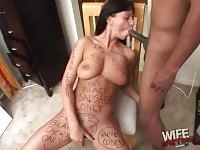 Brunette bitch gets her mouth filled with a BBC