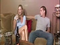 Jodi West is drinking wine with a young man