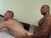 Buff black hunk rails ass