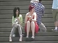 Upskirt video of unsuspecting women in public