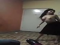 Busty Indian teen dancing