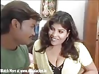 Busty Indian babe lures in her man