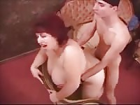 Thief gets caught and fucked by chubby MILF