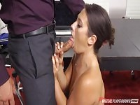 Eva Lovia nailed in the office and creampied