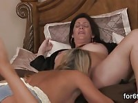 Alluring lesbians enjoy pussy eating until having orgasm