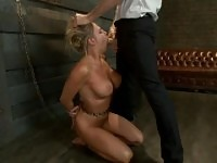 Facial abuse with hot love melons is acting in blowjob action