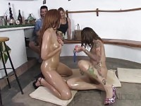 ChicasLoca - Naughty Latina babes toy each other s shaved pussies in hot lesbian sex - Spanish