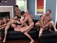 Gorgeous and insatiable studs get together for an exciting gay orgy