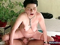 Aged Moaning Granny Gets Fucked