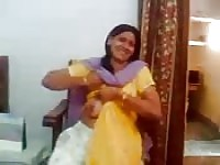Indian housewife flashes camera