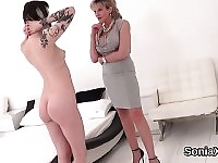 Unfaithful english milf gill ellis presents her heavy boobie