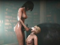 3D Hentai Futa Helena and Sherry - FreeFetishTVcom