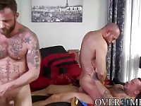 Three hotties take turns sucking and fucking one another