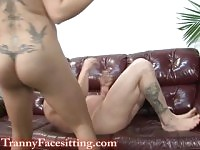 Tranny 69 Cock-Sucking with TS Stephany Coxxx