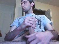 Jerking Cut Cock And Watching Porn