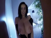 Lovely, take off that corset and show me your enormous tits