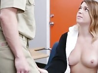 Young coed Jenna Ashley is acting in blowjob porn scene