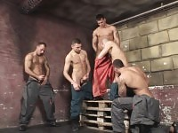 Gay construction workers have an orgy of dick eating and ass tapping