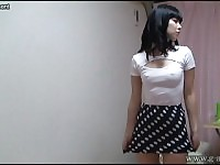 Japanese teens room to peep for 24h. Her change of clothes