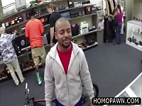 Desperate black ass dude willing to get his straight ass fucked in the shop for some cash