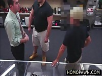 Fat hairy ass dude tries stealing stuff and ends up getting fucked straight in the ass