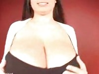busty big boobs girl Kerry Marie in black dress