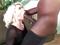 White girl sloppy throatfucking monster black cock