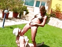 Old and young lesbian groupie love with pissing