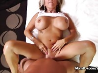 Huge Tits MILF gets anal fuck and facial