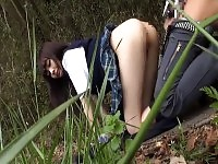 Idol Atobi Sri Fucks In Field By Motorway Skinny Babe With Shaved Puss
