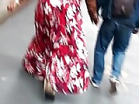 Another Tall Bbw Big Booty Ebony In Long Dress