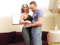 Glam latina trans fucked in tight culo
