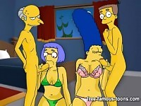 Orgie hard de Simpsons hentai