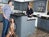 Sneaky Janice Griffith sucks Keiran Lees cock