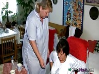 Good nurse gives granny the full treatment