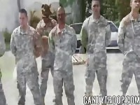 Soldier gets fucked in the asshole by another big dick soldier