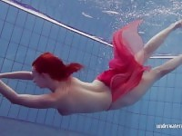 Redhead in the pool