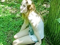 LOVELY german college girl girl fucked outdoors
