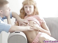 Jizzy mouthed hot teen