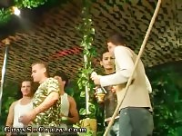 Toned teen gay porn movies Dozens of fellows go bananas for bananas at