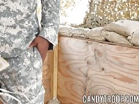 Doggystyle and blowjob with big dick muscular army soldiers