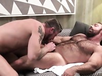 Tattoo gays oral sex and facial cum